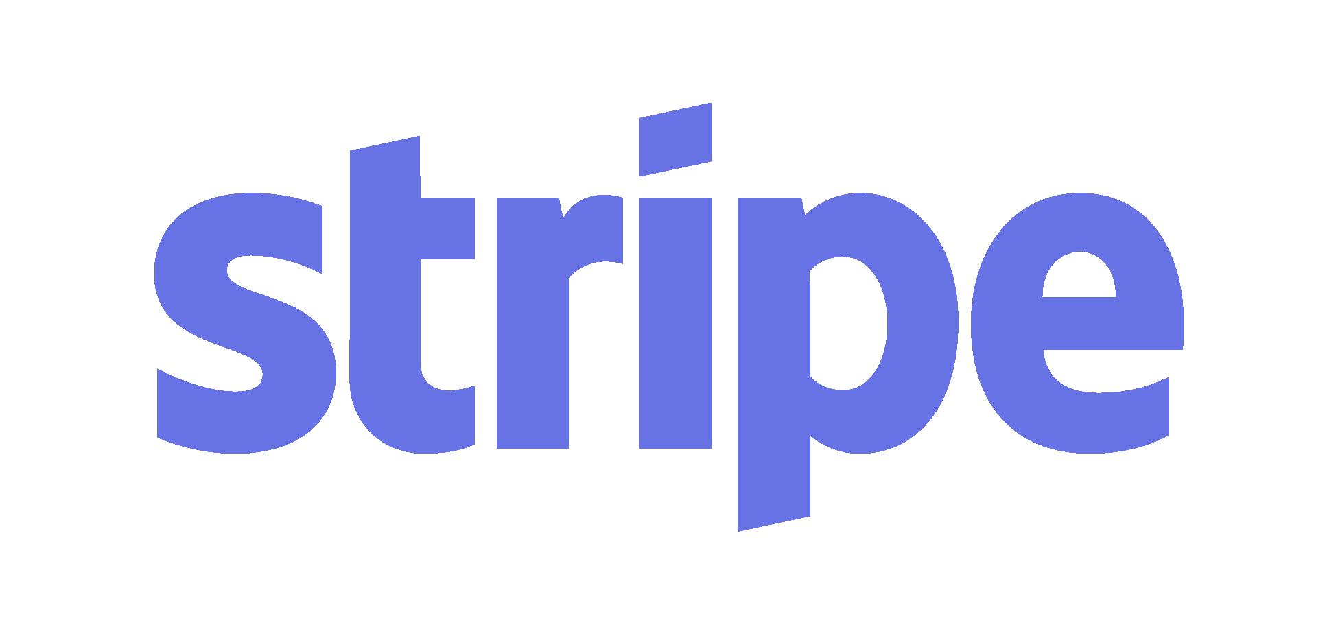 stripe logo - pre-built integration API on platform